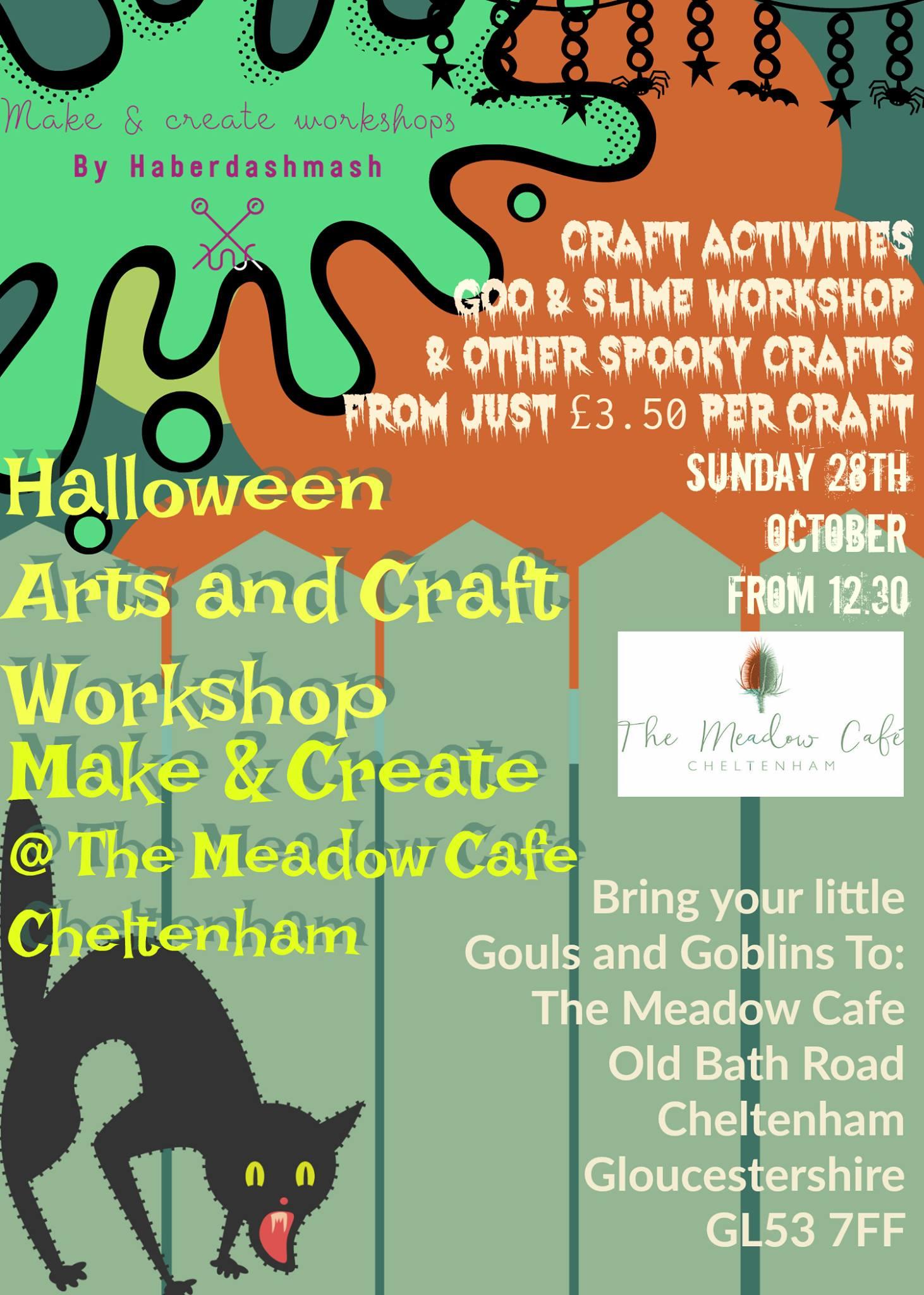 The Meadow Cafe Halloween Crafts Cheltenham Rocks