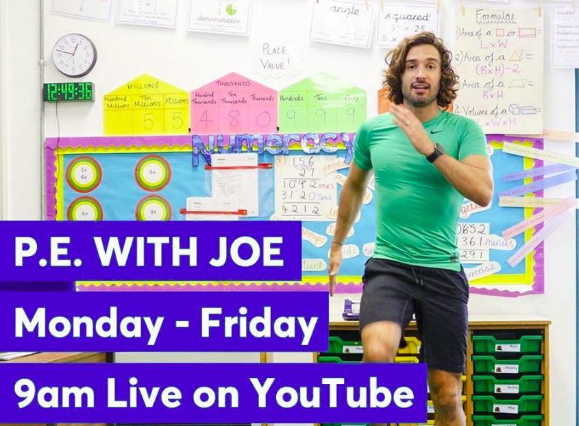 Daily P.E with Joe Wicks